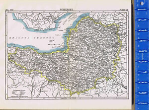 Map Print County Of Somerset In England 1907