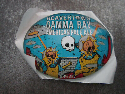 Beavertown Neck Oil Session IPA Plastic Round Pump Tbar Font Badge Fish Eye Lens