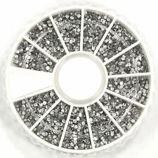 TDUSA - 2400pcs 3D Nail Art Rhinestones Acrylic Tips Decoration Wheel - NT