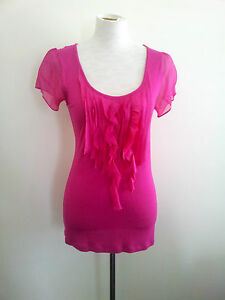 Vibrant-Colour-David-Lawrence-size-XS-magenta-top-in-excellent-condition