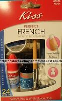Kiss Acrylic Sculpture Kit Perfect French 24 White Tips+file+brush 00376