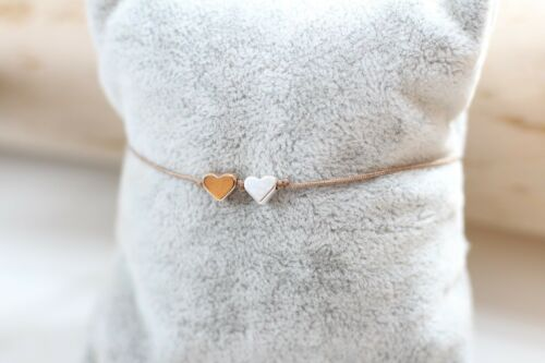 Armband Herz rosegold silber Macramé Freundschaftsarmband Wunscharmband Damen
