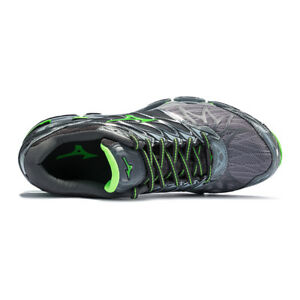 competitive price e9ddd 5af61 Image is loading Mizuno-Wave-Prophecy-7-Gray-Silver-Green-Men-