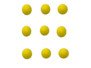 E-Deals-70mm-Soft-Foam-Sponge-Balls-Pack-of-9-Yellow