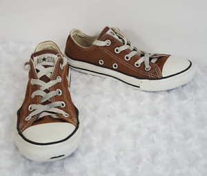 0f1db39b77bab4 Converse All Star Kids Sneakers Chuck Taylor Youth Low Brown Shoes ...