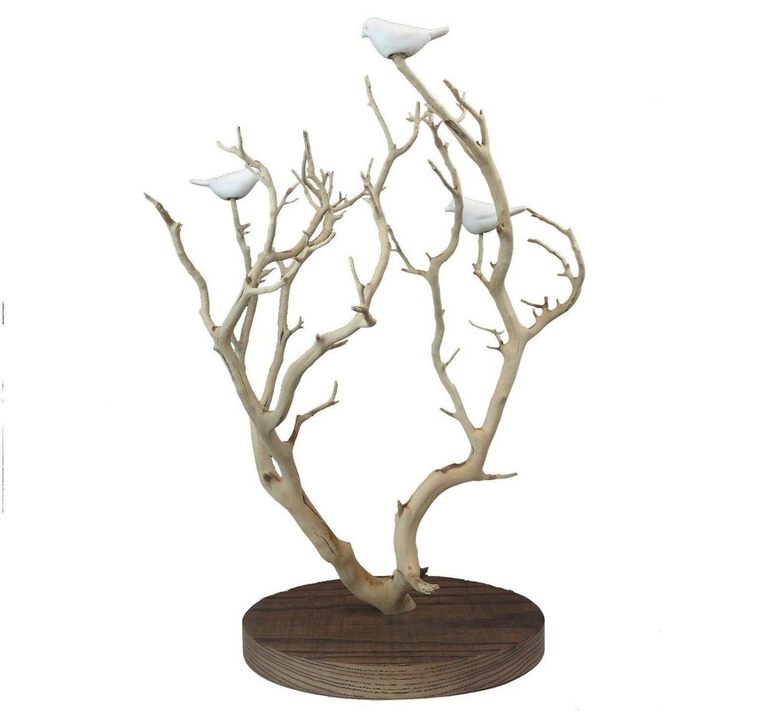Hand Carved Weiß Porcelain Birds in Tree Tree Tree Tabletop Figurine Stiles In Clay 18 H 164b6f