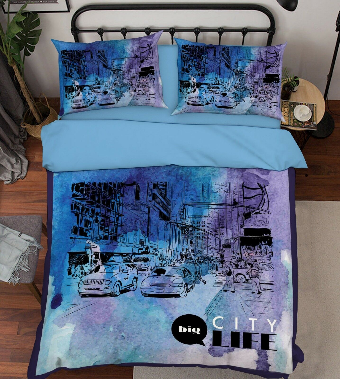 3D Painted City 807 Bed Pillowcases Quilt Duvet Cover Set Single Queen King CA