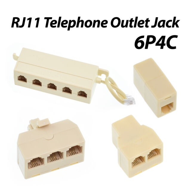 10pcs 6P4C RJ-11 Phone Line Cable Coupler Connector Socket Adapter  Ships USA