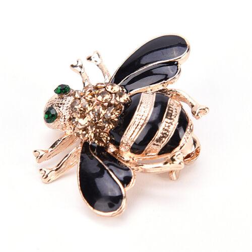 Fashion Bee Brooch Elegant Gold Crystal Rhinestone Party Brooch JD