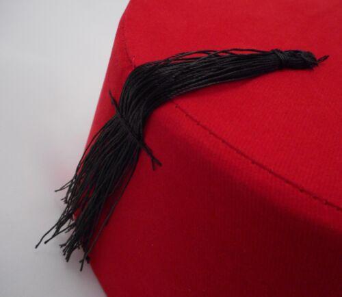 Fez Fes Turkish Ottoman Hat Tarboosh Ottoman Wear Bordaux Red FREE SHIPPING