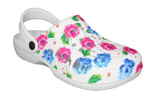 Damen Slobby Clogs Hausschuhe Gartenschuhe Arbeitschuhe Badeschuhe Praxis NEU