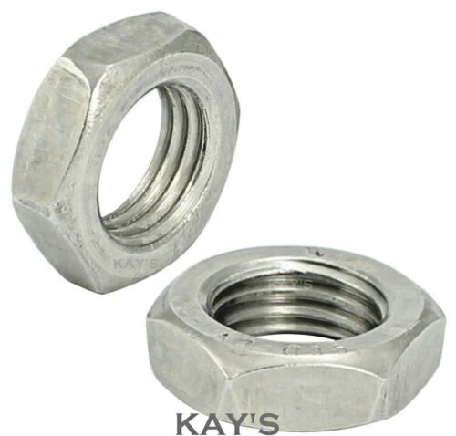 Free P/&P M3 Stainless Steel Half Nuts Pack of 20