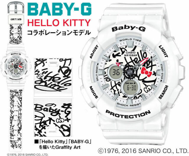 c06fc9032ac81 Ladies  Casio Baby-g Hello Kitty Watch Ba120kt-7a for sale online