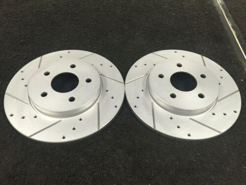 FORD MONDEO MK3 2001-2007 CROSS DRILLED GROOVED REAR BRAKE DISCS PAIR