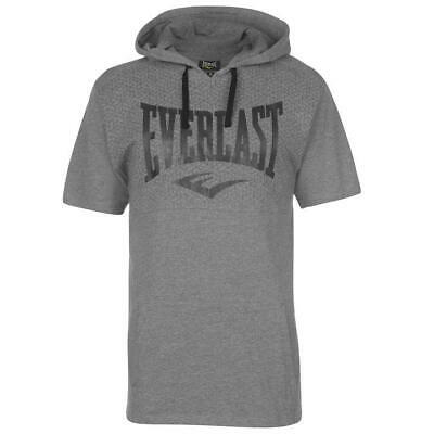Mens GREY MARL EVERLAST Fight Training kurzärmlig Hooded T Shirt | eBay
