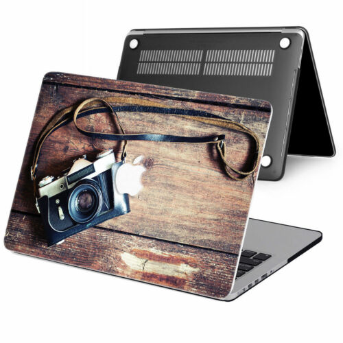 """2in1 Wood Paint Rubberized Hard Case Cover For New Macbook Pro Air 11/"""" 12 13/"""" 15"""