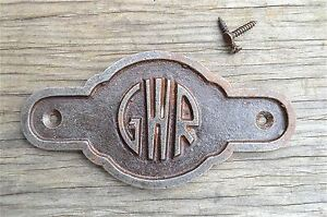 Antique-style-cast-iron-Great-Western-Railway-door-sign-plaque-c-w-screws-GW6