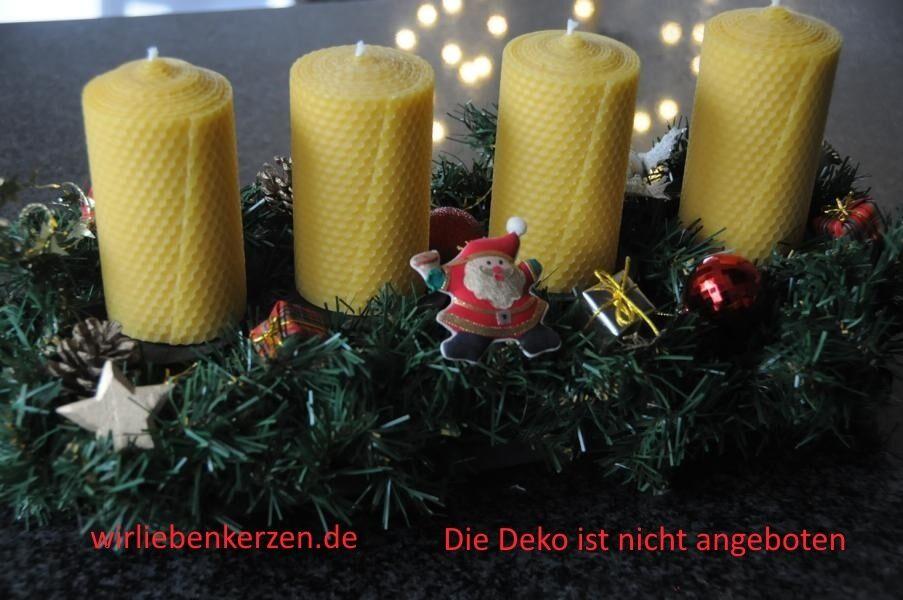 3 X Bougies de Cire D'Abeille XL 100% 125 X 65mm Fait à la Main en D