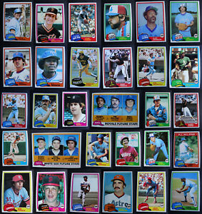 1981 Topps Baseball Cards Complete Your Set U You Pick From List 1-200