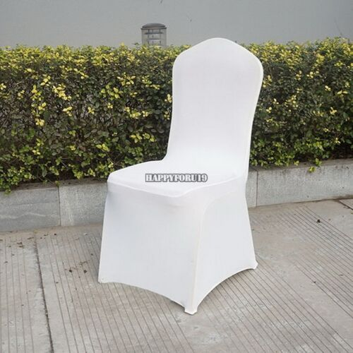 300p Chair Cover Universal Stretch Spandex Chair Cover Wedding Party Lycra White