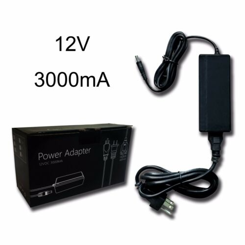 CMVision UL Listed Regulated Power Adapter LED Light 12VDC 3Amp for Camera