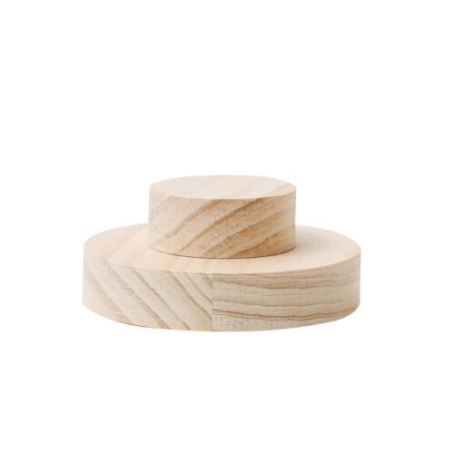 Round Unpainted Wooden Bracelet Ring Jewelry Display Handmade Craft Showcase