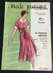 Magazine La MODE PRATIQUE  1er Mars   1950  n°5