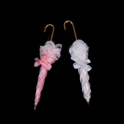 1Pc 1:12 maison de poupée miniature Dame royale dentelle parapluie Doll Ho AS