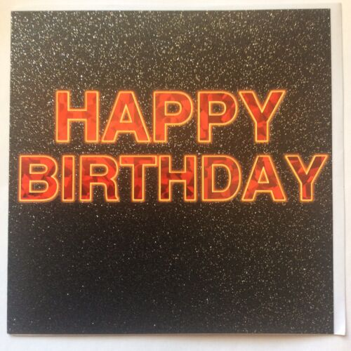 "F3 BIRTHDAY CARDS from TRACKS 6.5/""X6.5/""High Quality glitter /& foil  RRP £2.49"