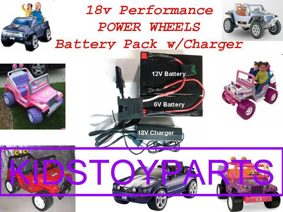 18V Volt Battery Kit Power Wheels Hurricane w charger with  20 cash Back Option