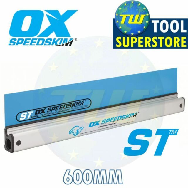 OX Speedskim Semi Flexible Plastering Rule Blade Only Various Sizes