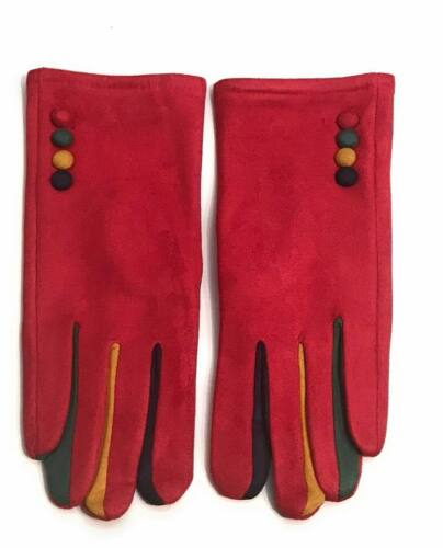 Ladies Gloves Multi Colours Touch Screen Fleece Gloves Winter Warm Soft Lined