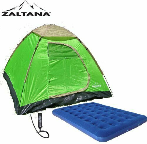 Zaltana 3 PERSON TENT WITH Double size AIR MATTRESS and Air pump set