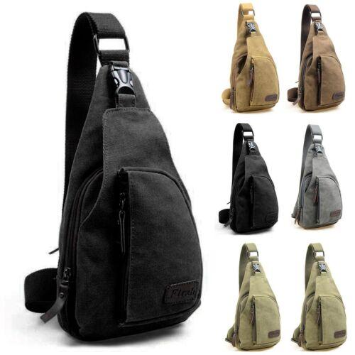 Mens Military Canvas Chest Shoulder Bag Crossbody Bags Travel Backpack Satchel L