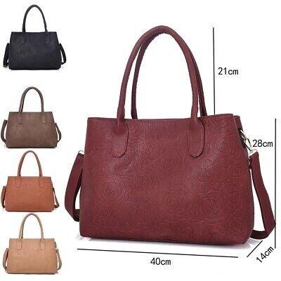 Ladies Shoulder Handbags Faux Leather Bag Womens Tote Large Organizer Bag Travel