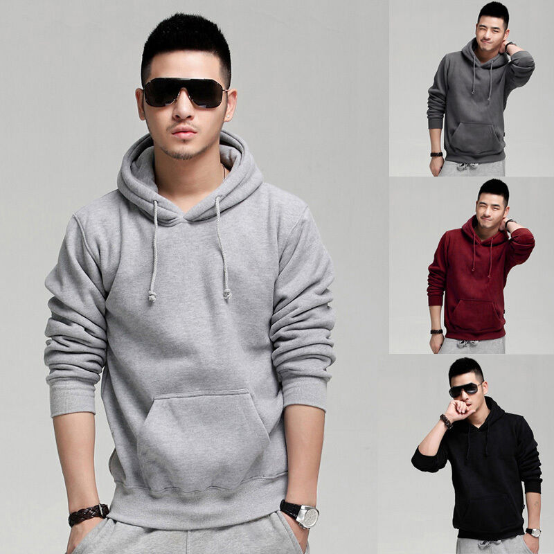 New Mens Winter Sweatshirts Pullover Jackets Thick Velvet Coat Hoodies PLUS S-XL