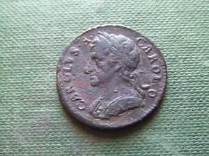 CHARLES II.  1675, COPPER FARTHING.  SCARCE.  NICE CONDITION