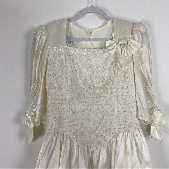 GUNNE SAX Jessica McClintock Size M Vintage White… - image 5