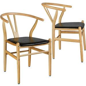 Set Di 2 Sedie In Legno Per Sala Da Pranzo Tavolo Cucina Moderne Sedia Design N Ebay