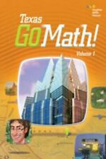 Go Math Texas Grade 2 Student Edition Set 2nd Volumes 1 & 2