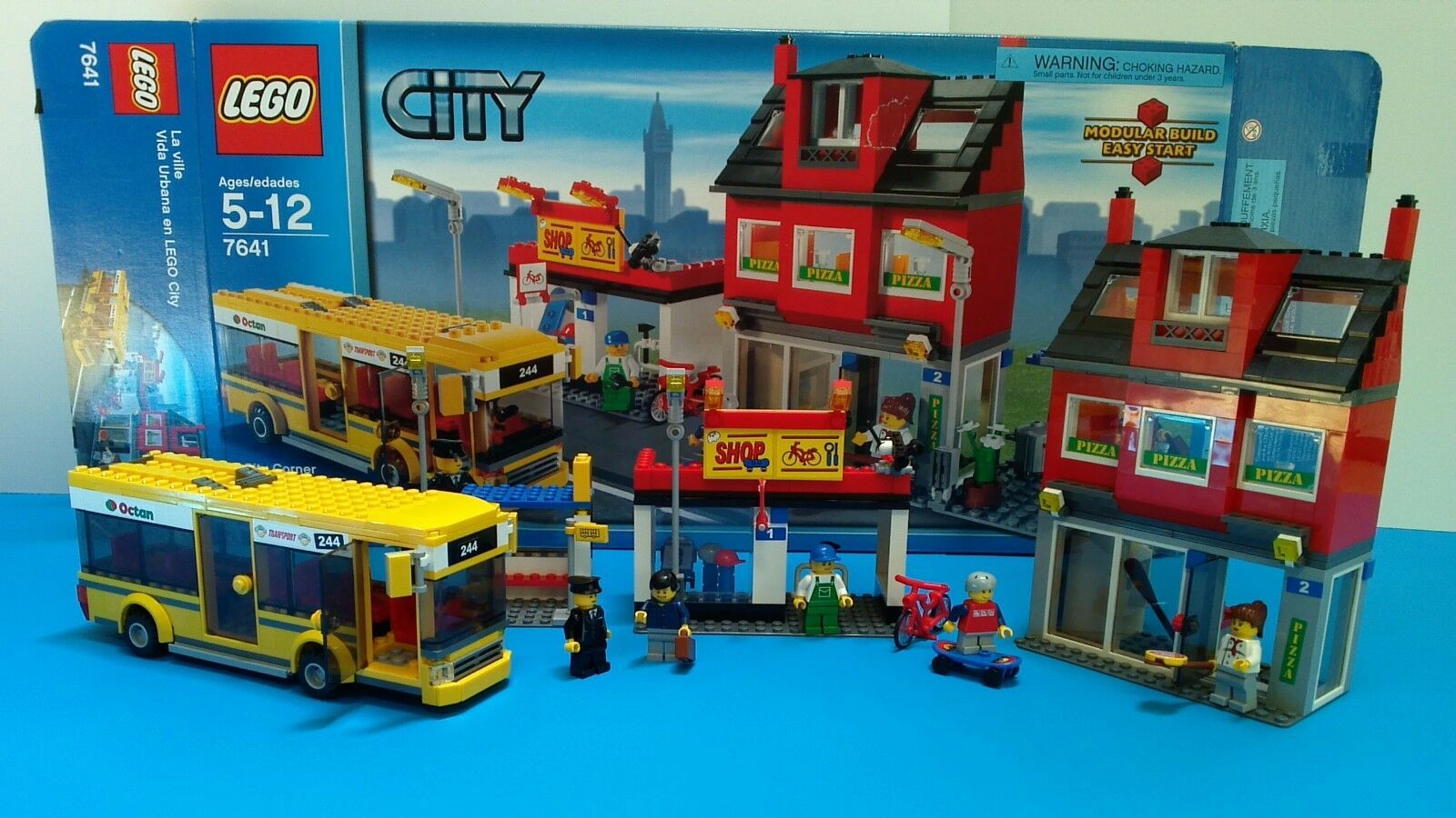 Lego city  7641 stadt ecke, komplette 483 pcs, rentner