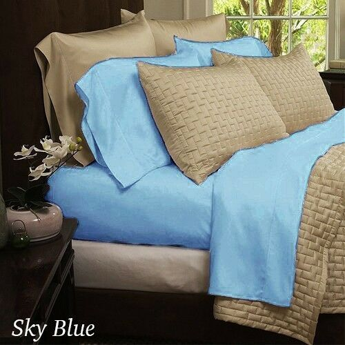 Queen King 4 10 colours Piece Luxurious Bamboo Sheets Full