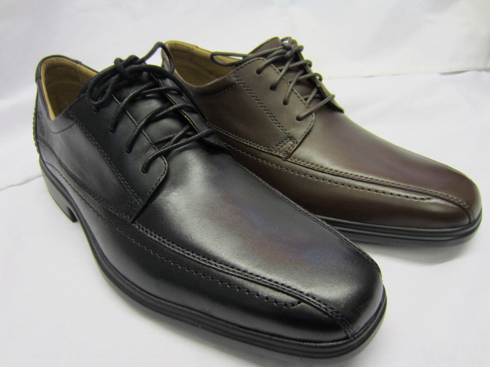 Clarks' glevo Over'Herren schwarz oder hellbraun Leder Schnürschuhe
