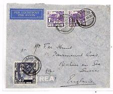 BF201 1936 DUTCH EAST INDIES Soerabaja GB Sussex Airmail Cover