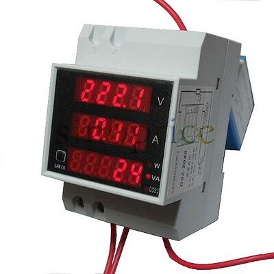 Digital LED Display Panel Volt/AMP Power Meter AC 80-300V 0-100A 0-30000W