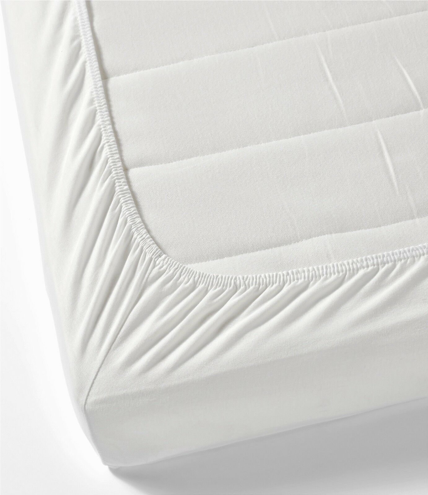 Pure White 100% Cotton 32cm Fitted Bed sheet (Double, Single, King, Super King)