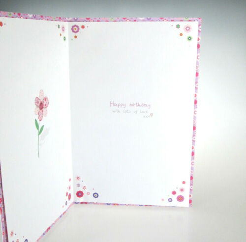 To a Lovely Stepdaughter Cute Birthday Step daughter Step-daughter Greeting Card