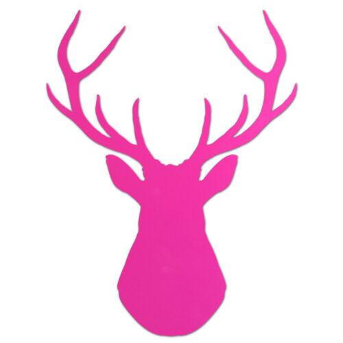 Acrylic Plastic Stag Head Laser Cut Craft Shape Decoration 13 Colours 3 Sizes