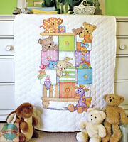 Cross Stitch Kit Dimensions Animals & Drawers Baby Crib Quilt 73537