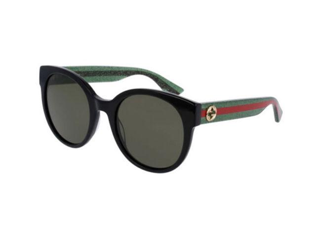 buy online cae8f 57cb5 Gucci Occhiali da sole GG 0035s 002 Nero/verde